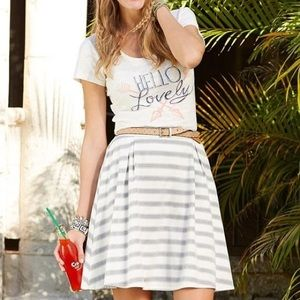 NWT Matilda Jane Striped Skater Skirt Medium